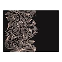 Fotobehang - floraal motief - ornament