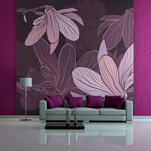 Fotobehang - Dromerige bloemen