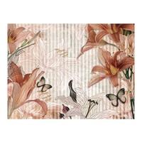 Fotobehang - Bloemen en vlinders