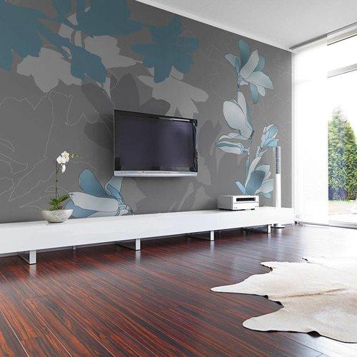 Fotobehang - Blauwe magnolia