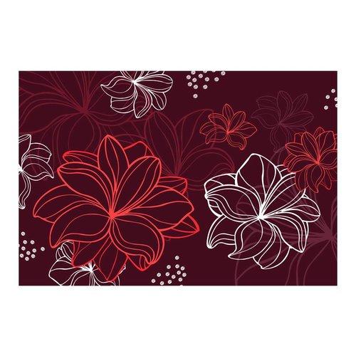 Fotobehang - Flora rood