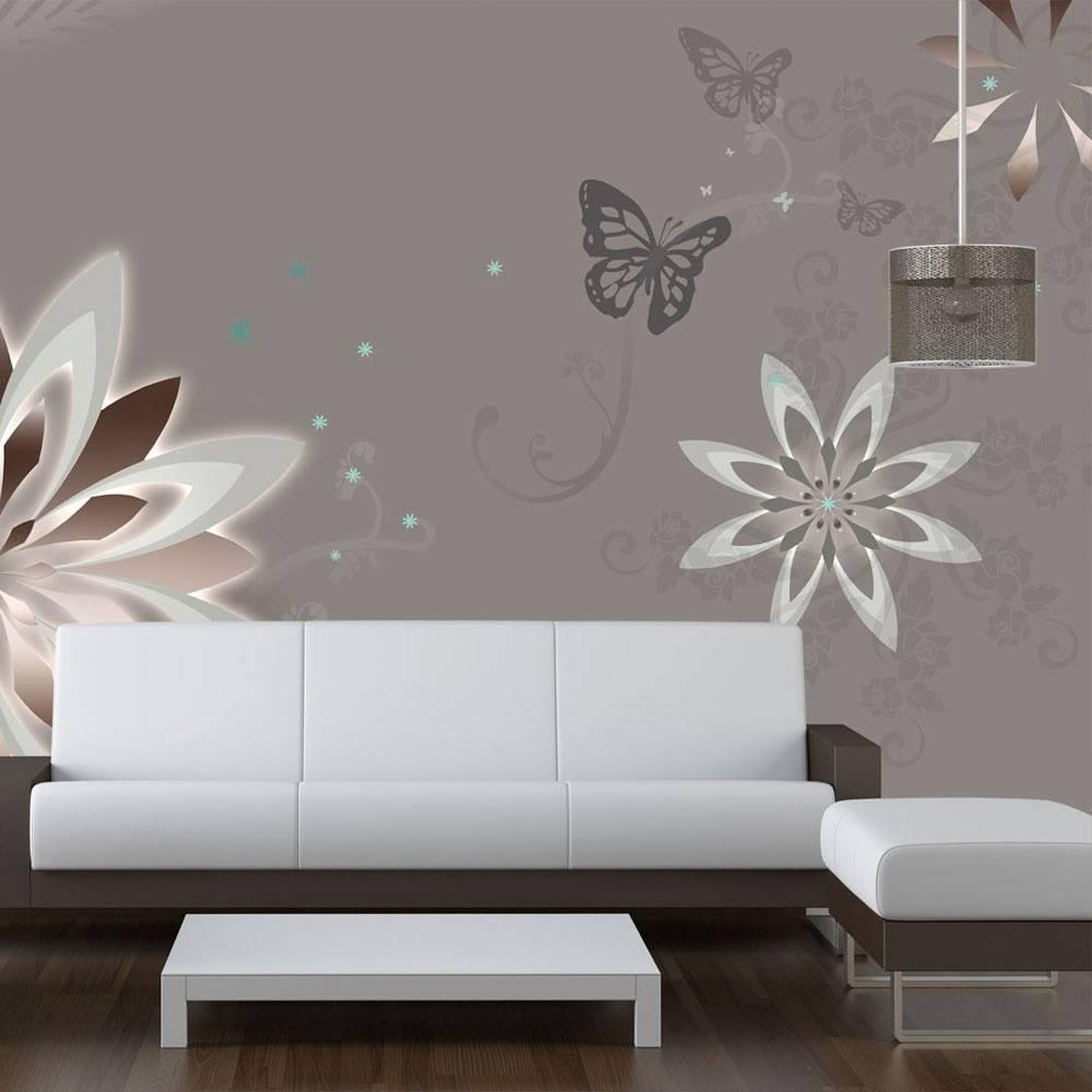 Fotobehang - Bloem en vlinders