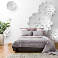 Fotobehang - White Garden