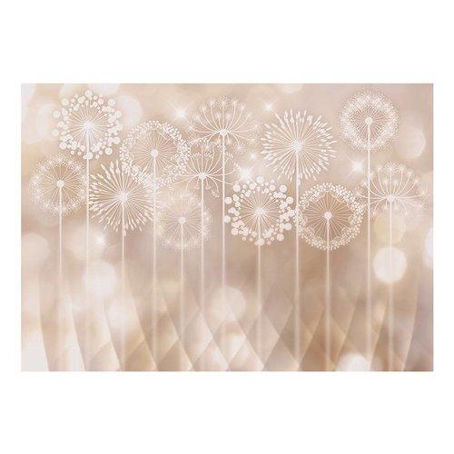 Fotobehang - Gordijn van bloemen