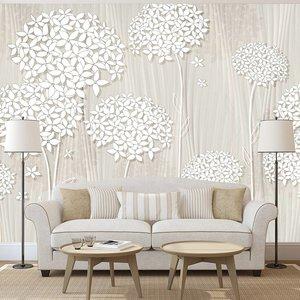 Fotobehang - Bomen in het wit