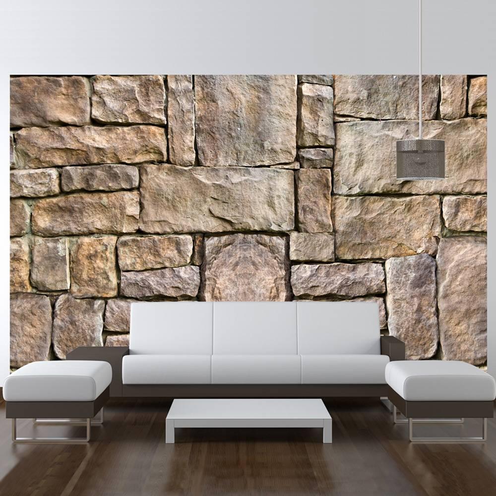 Fotobehang - Puzzel van steen