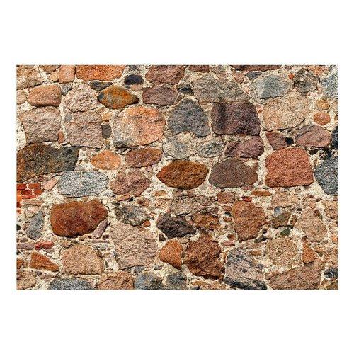 Fotobehang - Artistieke stenen muur , grijs bruin , 5 maten