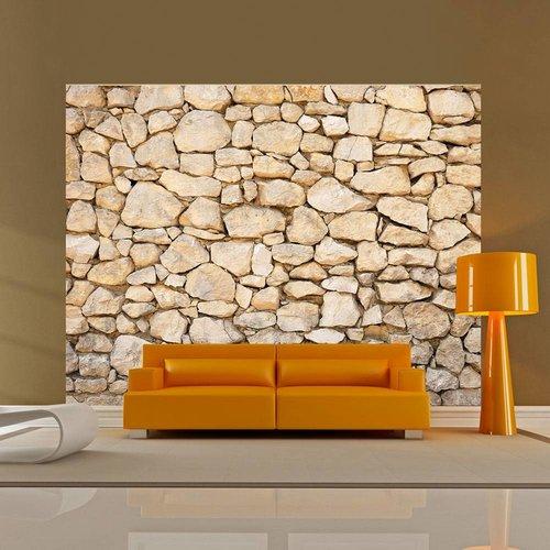 Fotobehang - illusie - steen