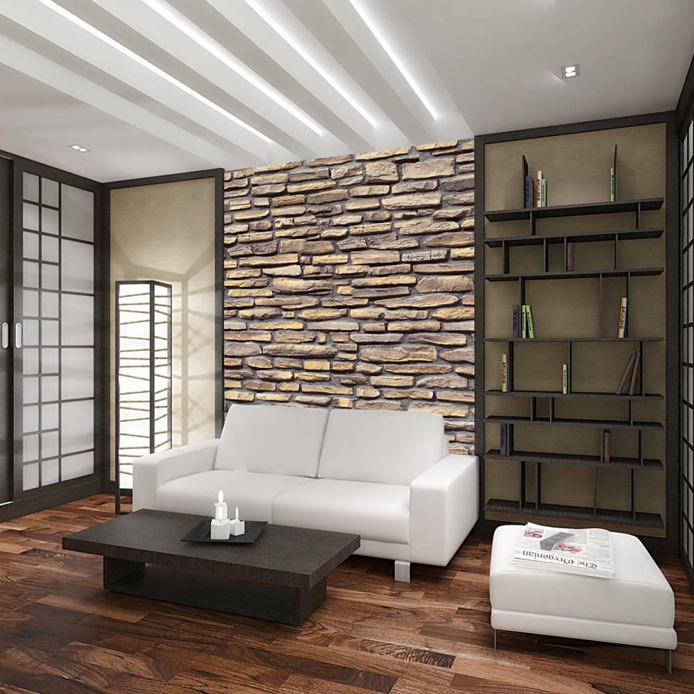 Fotobehang - Stenen muur - stylish design