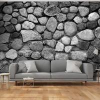 Fotobehang - Grijze stenen , grijs