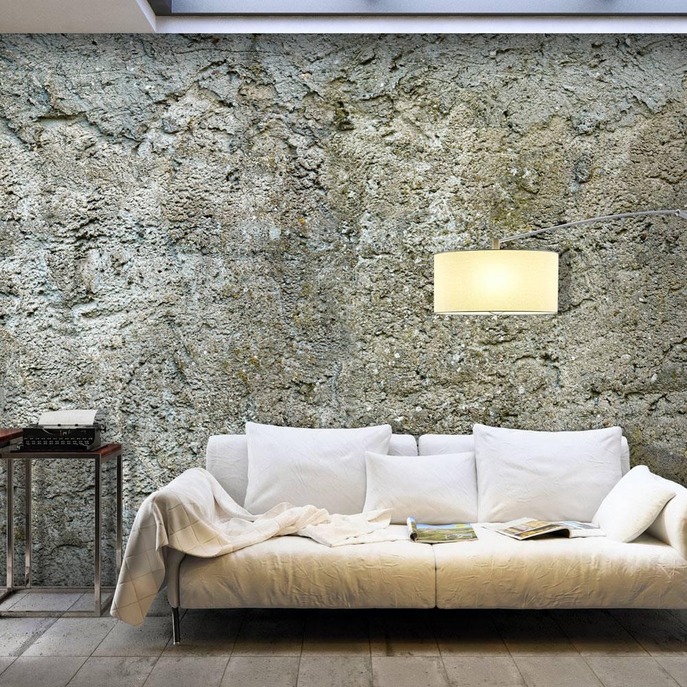 Fotobehang - Barriere van steen , grijs