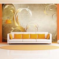 Fotobehang - Gold leaf