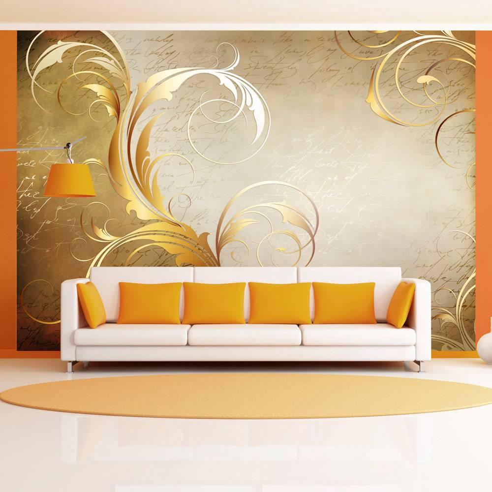 Fotobehang - Gouden blad