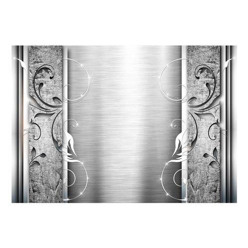 Fotobehang - Bladeren van staal