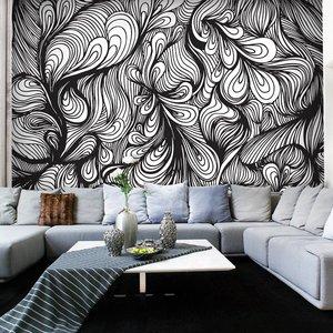 Fotobehang - Zwart en wit retro-stijl
