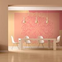 Fotobehang - Roze ornament