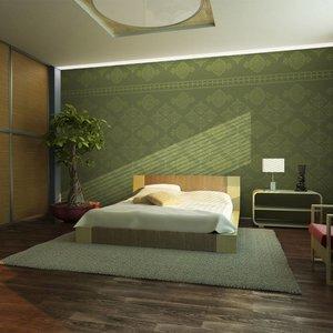 Fotobehang - Groene barok