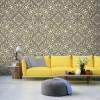 Fotobehang - Patroon van elegantie , grijs beige