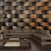 Fotobehang - Brick  braid