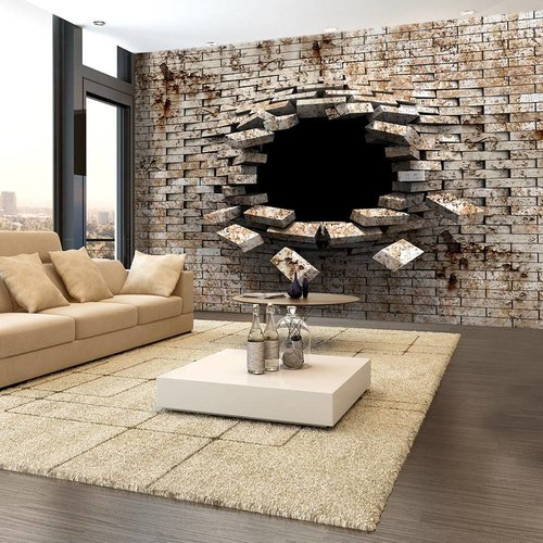 Fotobehang - Ingang - oude muur