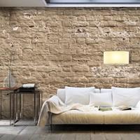 Fotobehang - Zandkleurige muur , beige