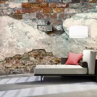Fotobehang - Tere muur , rood wit