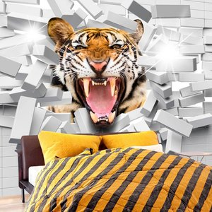 Fotobehang - Tiger Jump