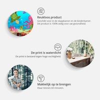 Fotobehang - Druppels op hout