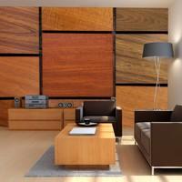 Fotobehang - Vierkanten van hout