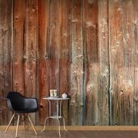 Fotobehang - Bos hut , bruin