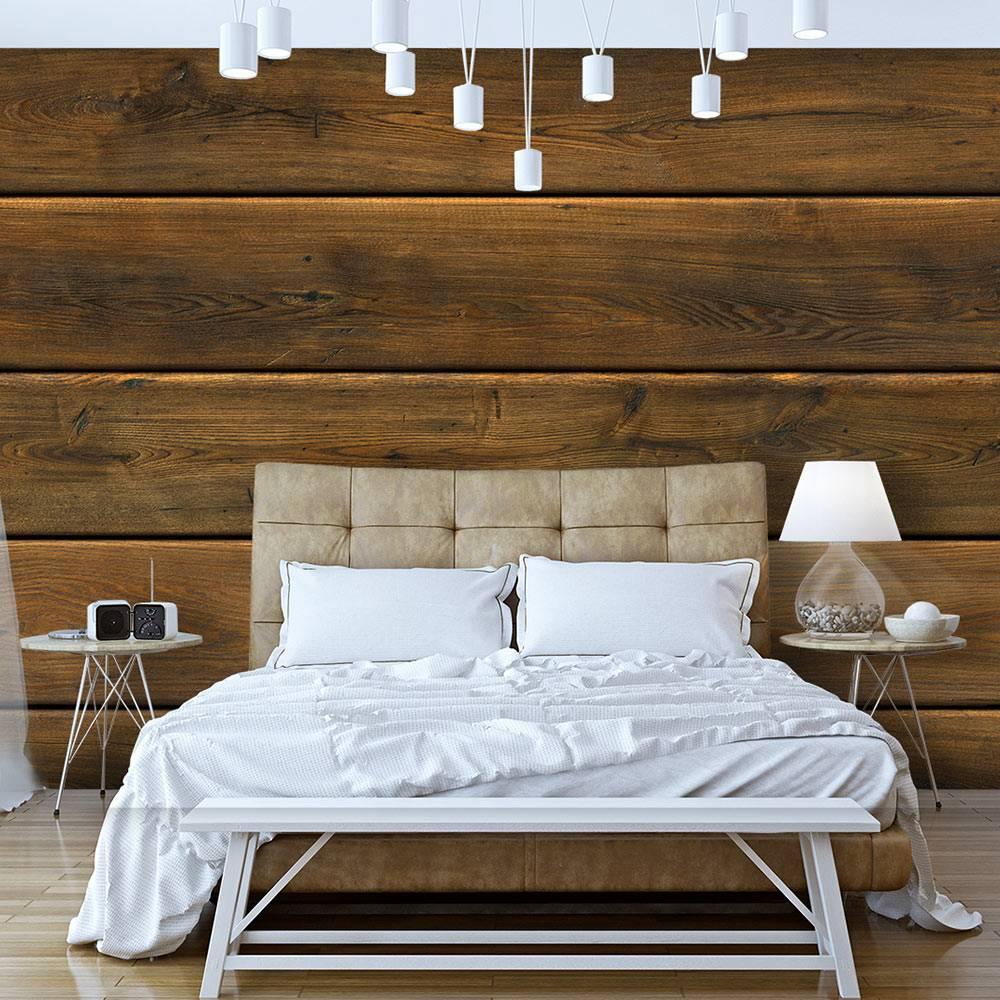 Fotobehang - Houten planken