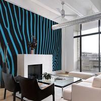 Fotobehang - Zebra patroon turquoise