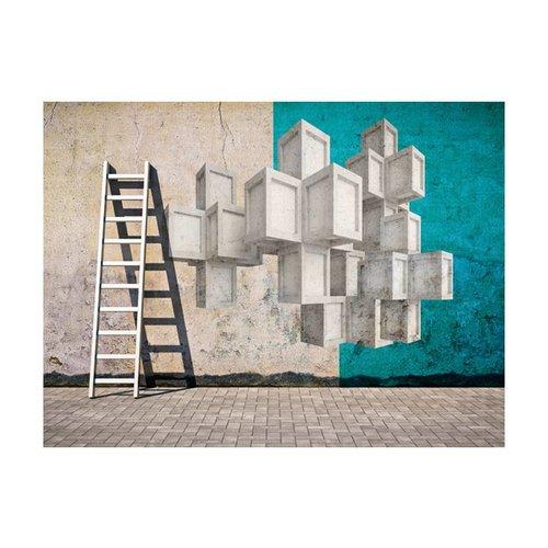 Fotobehang - Betonnen blokken