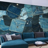 Fotobehang - Jeans zakken