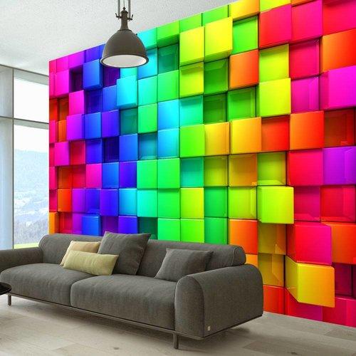 Fotobehang - Kleurige kubussen