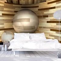 Fotobehang - Baan van hout