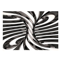 Fotobehang - Black and white swirl