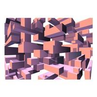 Fotobehang - Dancing rectangles