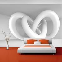Fotobehang - Witte spiraal