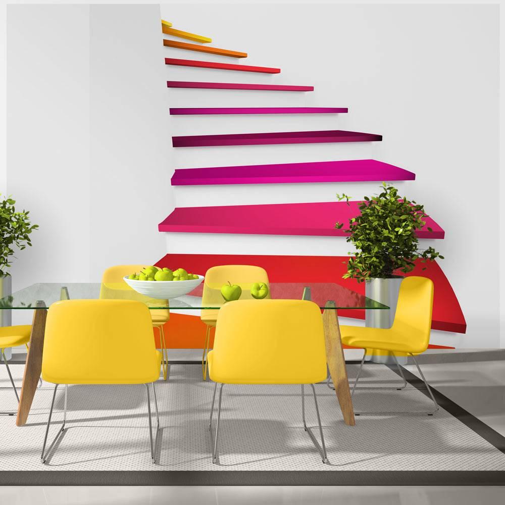 Fotobehang - Trap in kleuren