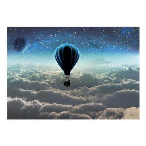 Fotobehang - Luchtballon boven de wolken
