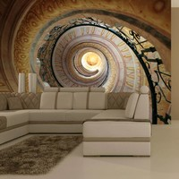 Fotobehang - Decorative spiral stairs