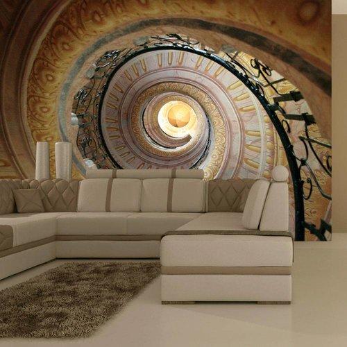 Fotobehang - Decorative spiraalvormige trap