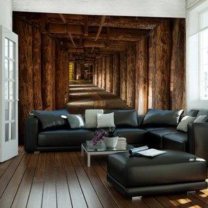 Fotobehang - Wooden passage
