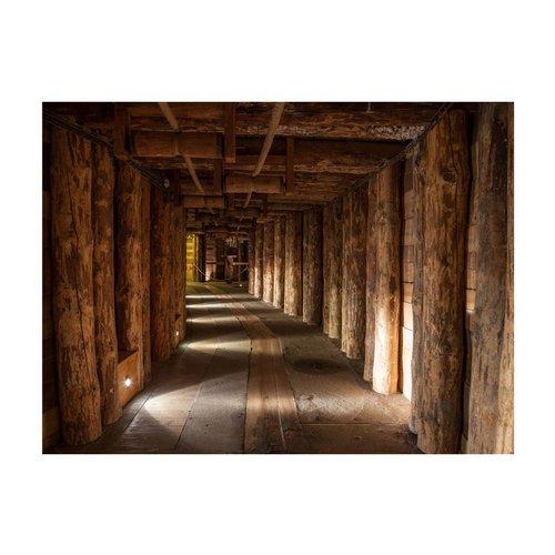 Fotobehang - Houten passage