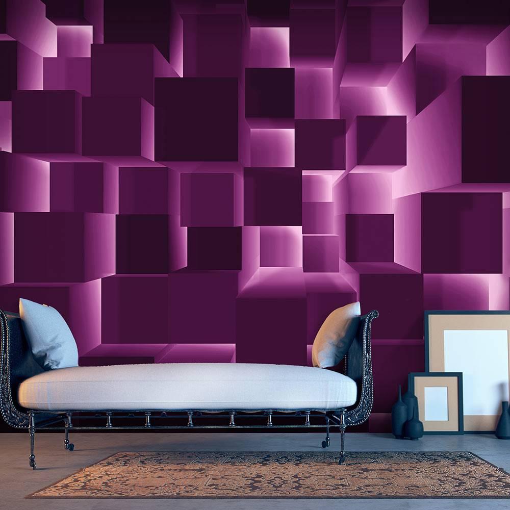 Fotobehang - Paarse harmonie , paars roze