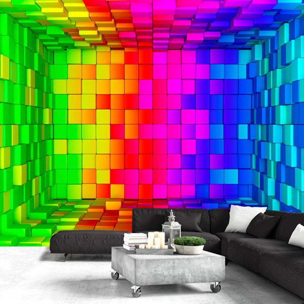 Fotobehang - Regenboog Cubus