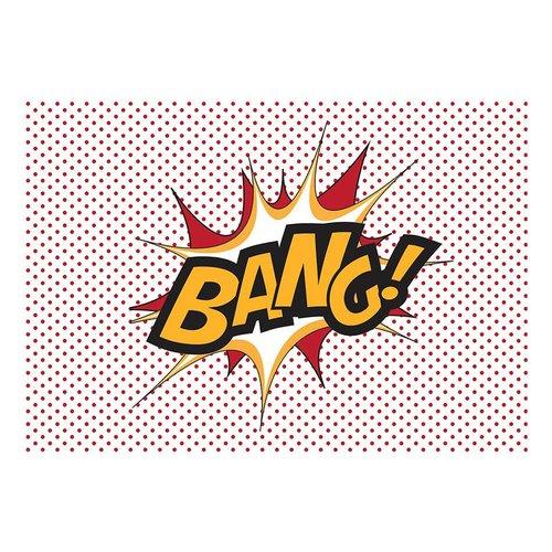 Fotobehang - BANG! , popart