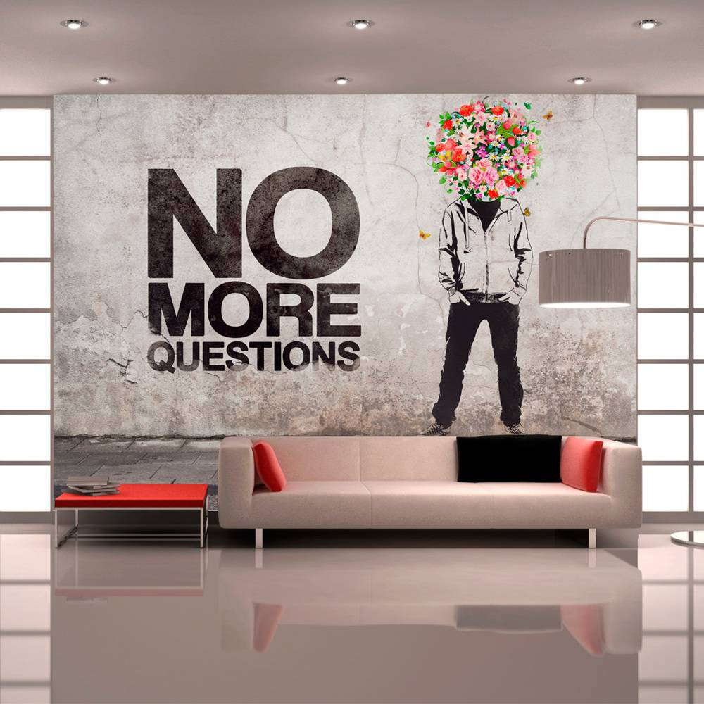 Fotobehang - No more questions