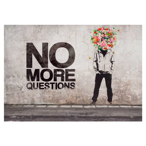Fotobehang - No more questions